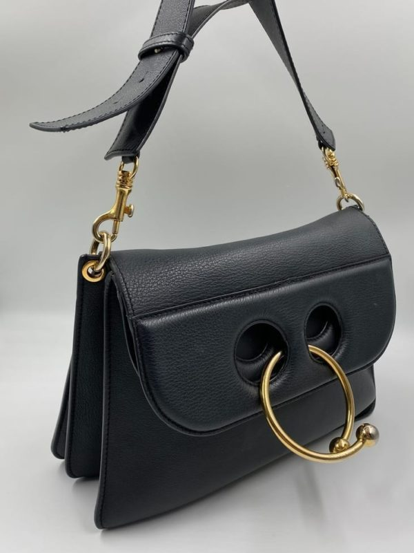 JW Anderson Medium Piece Bag Black Leather